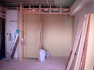 元和室の収納があった壁。